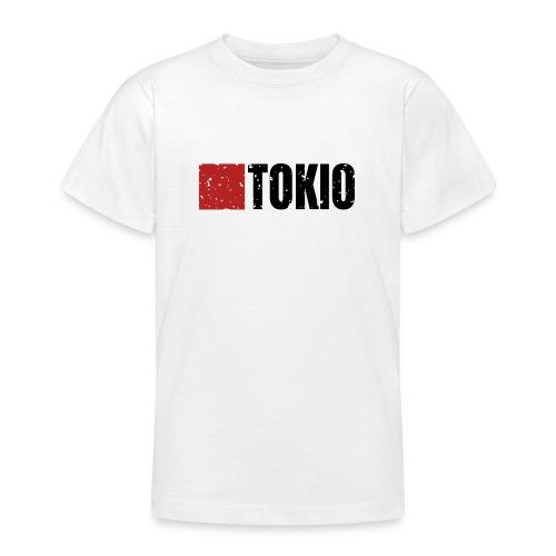 00160 Casa Papel Tokio negro - Camiseta adolescente