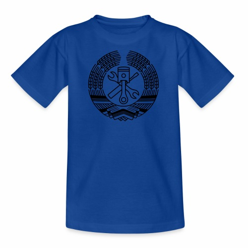 DDR Tuning Coat of Arms 1c (+ Your Text) - Teenage T-Shirt
