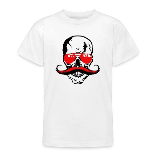 tete de mort crane moustache skull moustachu fanta - T-shirt Ado