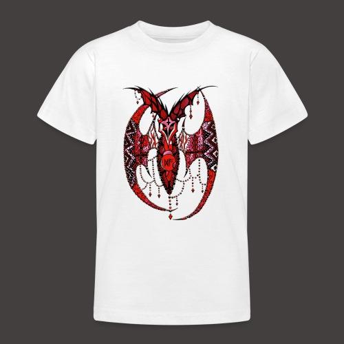 Chauve Souris Dentelle Rouge - T-shirt Ado