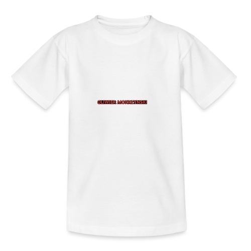 Red Oliwier Mokrzynski logo - Teenage T-Shirt