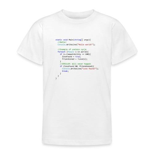 Love seen by a C# programmer - Maglietta per ragazzi