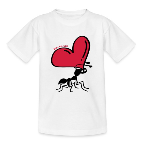 Ant Carrying the Love's Heart - Teenage T-Shirt