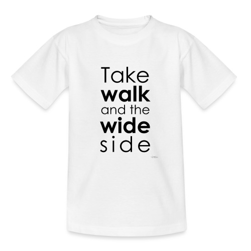 LOU-REDD-walk-black - Teenage T-Shirt
