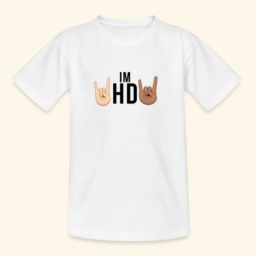 Im hd black logo - Teenage T-Shirt