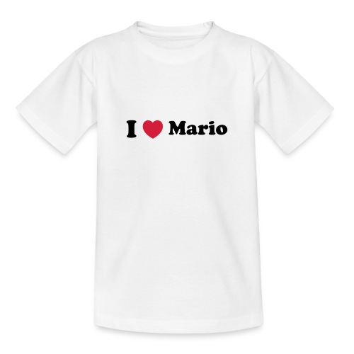 I love mario - Teenage T-Shirt