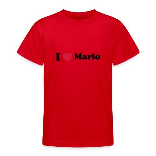 I love mario - Teenage T-Shirt