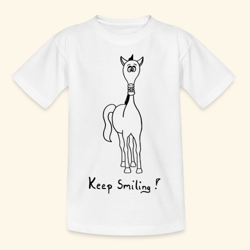 Funny Horse Keep Smiling - Teenager T-Shirt
