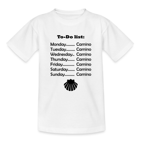 To-do list: Camino - Teenager-T-shirt