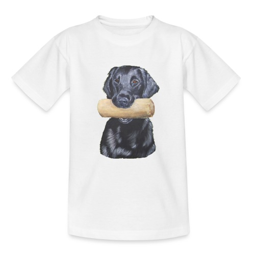flatcoated retriever Dumbbell - Teenager-T-shirt