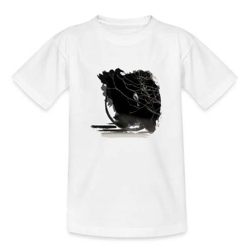 bird in zen circle above water bird on branch Zen - Teenage T-Shirt