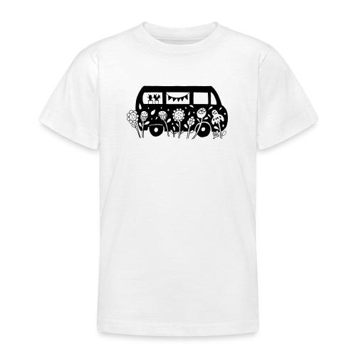 Flower Power Bus Liebe Florale Illustration - Teenager T-Shirt