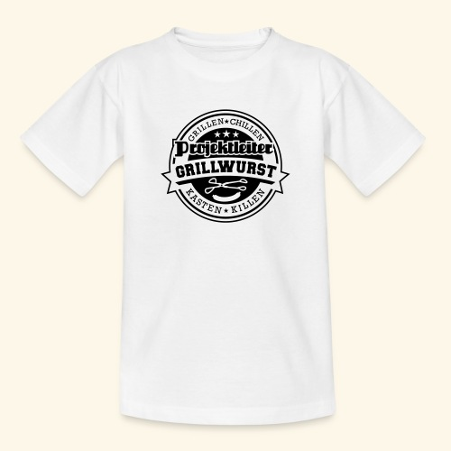 Grill T Shirt Projektleiter Grillwurst - Teenager T-Shirt