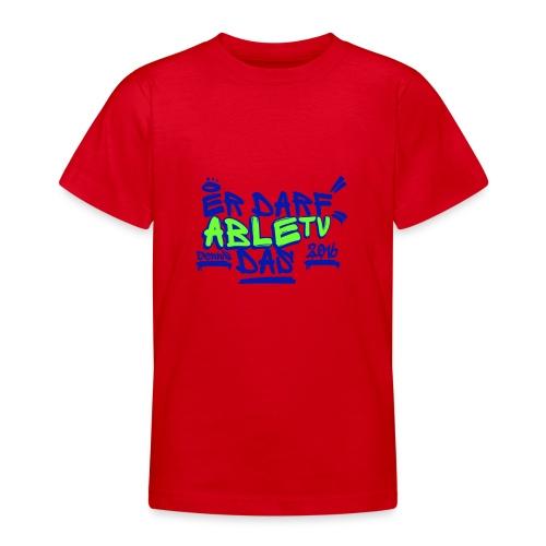 AbleTV Grafitti Logo Marken Shirt (Er Darf Das) - Teenager T-Shirt