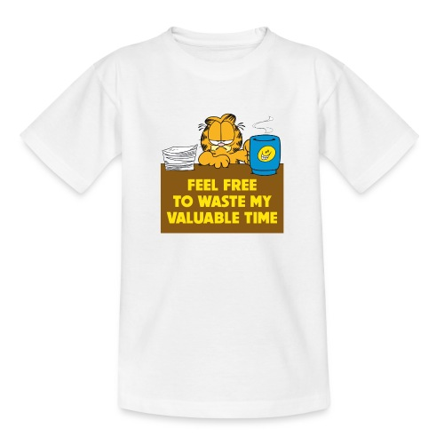 Garfield Valuable Time - Teenager T-Shirt
