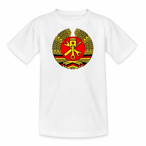 DDR Tuning Coat of Arms 3c (+ Your Text) - Teenage T-Shirt