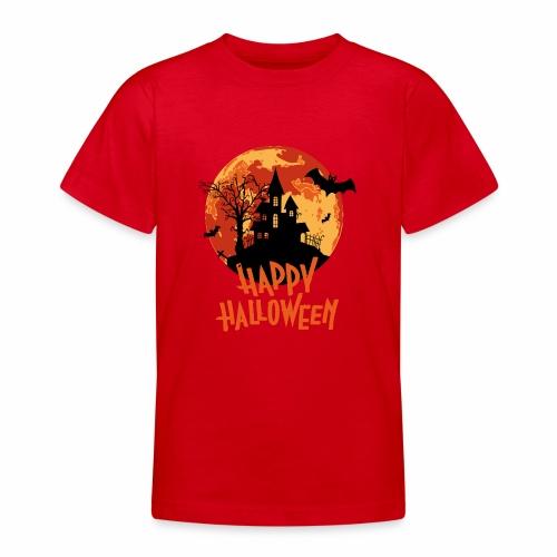 Bloodmoon Haunted House Halloween Design - Teenager T-Shirt