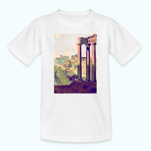 Rome Vintage Travel Poster - Teenage T-Shirt