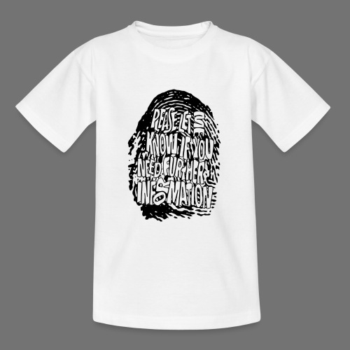 Fingerprint DNA (black) - Teenage T-Shirt