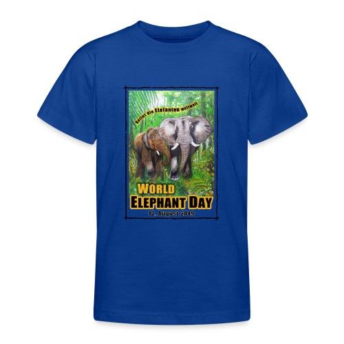 Welt-Elefanten-Tag 12. August 2019 - Teenager T-Shirt
