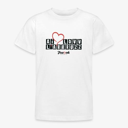 Ai Lovv L' Abbruzz - Maglietta per ragazzi