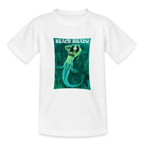 Vintage Pin-up Beach Ready Mermaid - Teenage T-Shirt