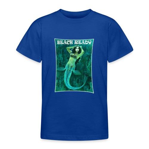 Vintage Pin-up Beach Ready Mermaid - Teenage T-Shirt