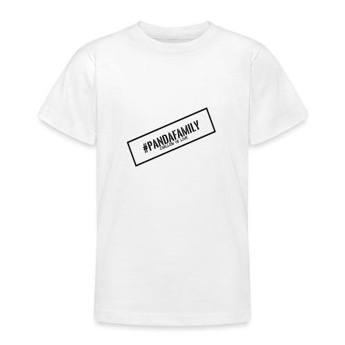 #PandaFamily [Balken] - Teenager T-Shirt