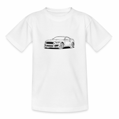 Cool Car White - Teenage T-Shirt