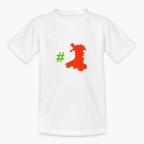 Hashtag Wales - Teenage T-Shirt