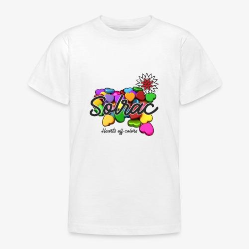 SOLRAC Hearts White - Camiseta adolescente