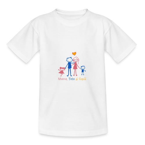 mama tata si copiii - Teenage T-Shirt
