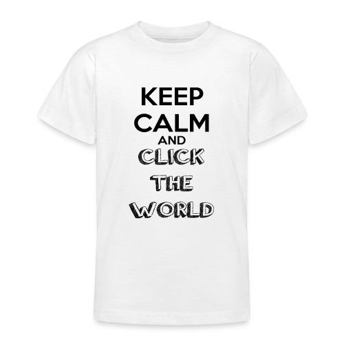 BORSA TESSUTO KEEP CALM AND CLICK THE WORLD - Maglietta per ragazzi