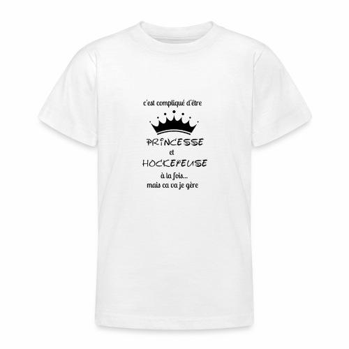 Princesse et Hockeyeuse - T-shirt Ado