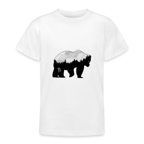 Geometric Mountain Bear - Maglietta per ragazzi