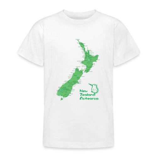 New Zealand's Map - Teenage T-Shirt