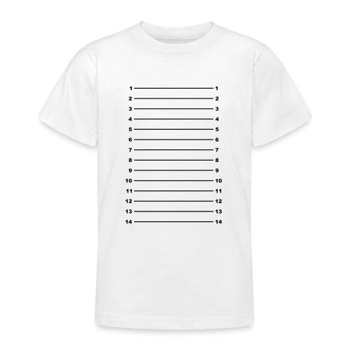 Length Check T-Shirt Plain - Teenage T-Shirt