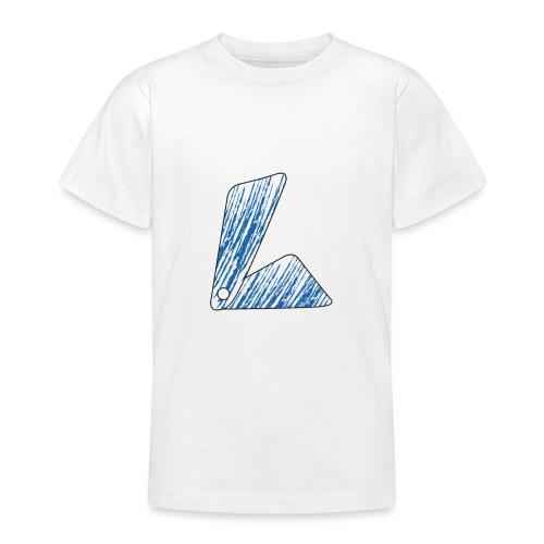 lettera L blu - Maglietta per ragazzi