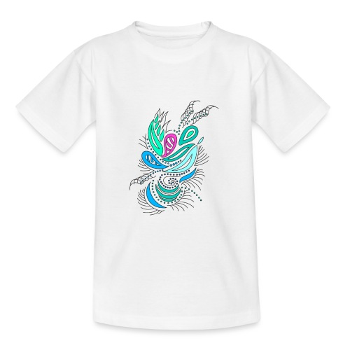 astratto foglie multicolore - Maglietta per ragazzi