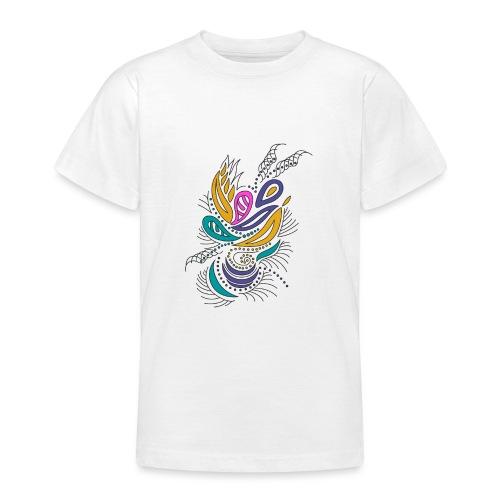 foglie geometriche multicolore - Maglietta per ragazzi