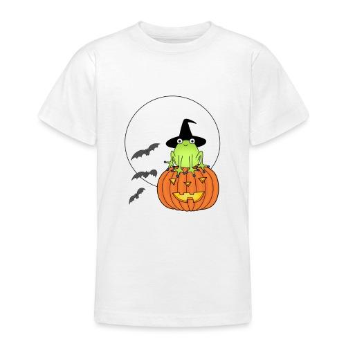 frog on pumpkin - Teenage T-Shirt