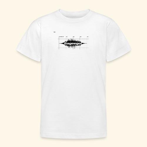 Gageego logga vit text - T-shirt tonåring
