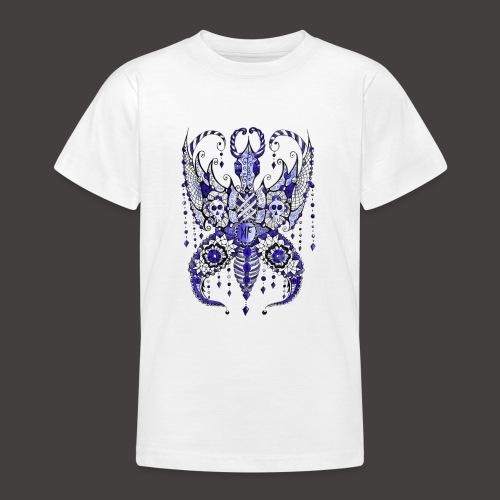 Papillon Lilou Bleu - T-shirt Ado