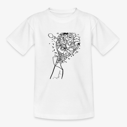 shampoo doodles - Teenage T-Shirt