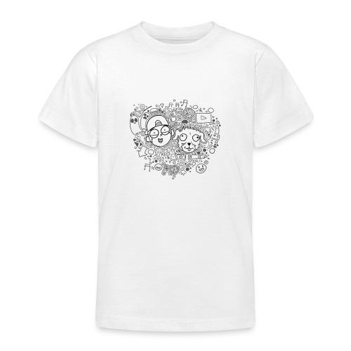 ROCKY EN KEES ZWART-WIT - Teenage T-Shirt