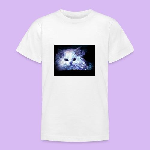 Gatto bianco glitter - Maglietta per ragazzi