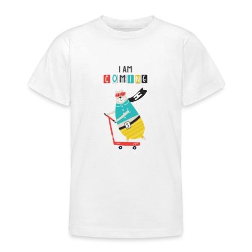 super héro ours sur patinette - T-shirt Ado