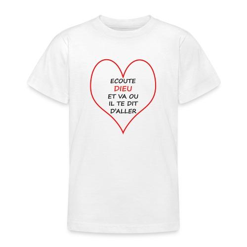 ECOUTE DIEU - T-shirt Ado