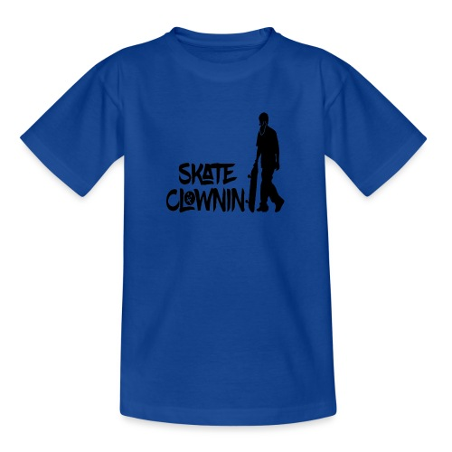 Skateclowninallblackno bg gif - Teenage T-Shirt