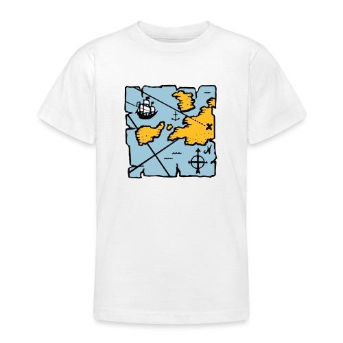 Pirate treasure map - T-shirt Ado
